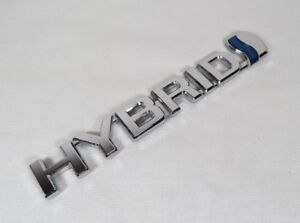 Toyota Camry Hybrid Emblem 15 17 Front Fender Oem Chrome Badge Sign Logo Symbol
