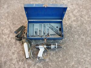 Rare Jiffy 2000 Air Drill Set Aircraft Pneumatic Mechanic Technician Tool Extras