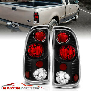 1997 2003 Black Tail Lights Pair For Ford F150 1999 2007 F250 F350 Super Duty