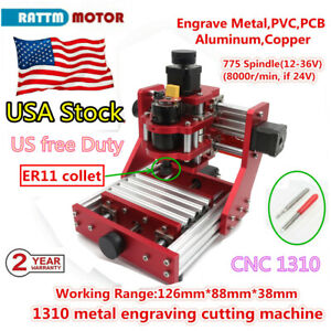 usa 1310 Mini Cnc Router Metal Cutting Pcb Wood Milling Laser Machine Engraver