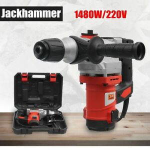 1480w Demolition Jack Hammer Drill Double Insulated Concrete Breaker Jackhammer