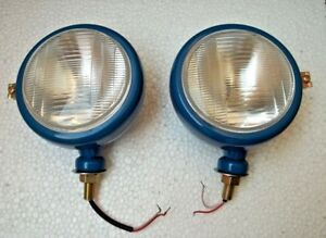 Ford Tractor Head Light Set lh Rh 12 V Blue Head Light Lamp
