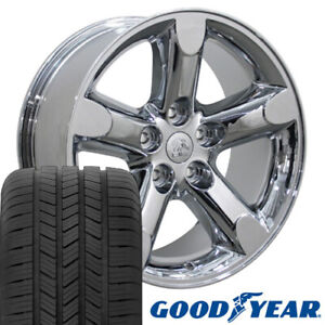 20 Rims Tires Fit Dodge Ram Jeep Chrysler Chrome Wheels Gy Tires 2267