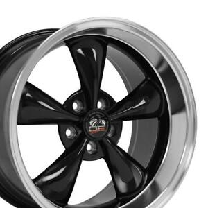 18x10 18x9 Rims Fit Mustang Bullitt Style Wheels Black Mach D Set