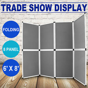 6 x8 Folding 8 Panels Trade Show Display Booth Presentation Exhibit Tabletop