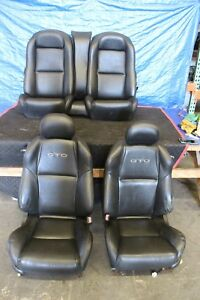2006 06 Pontiac Gto Ls2 6 0l Oem Factory Leather Front Rear Seats 1143