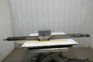 77 l X 4 Face Metal Gear Rack W gear Assembly From A Frost Broach Machine