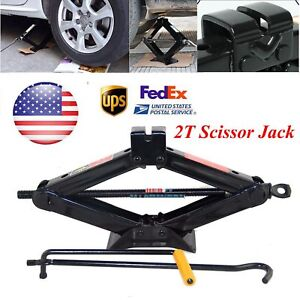 Us Auto Car 2 Ton 2t Wind Up Jack Stands Emergency Jacks Lift Speed Handle Tool