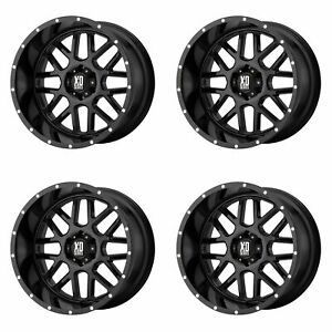 4x Xd Series 17x8 5 Xd820 Grenade Wheels Gloss Black 5x4 5 5x114 3 0mm 4 75