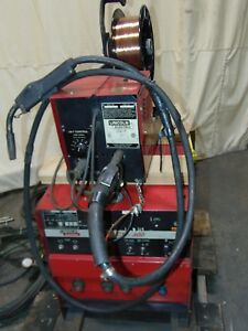 Lincoln Electric 400 Amp Mig Welder Power Supply With Ln 7 Wire Feeder 035