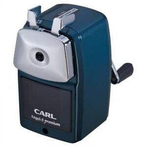 Carl Angel 5 Premium Hand Cranked Pencil Sharpener A5pr b Blue New From Japan