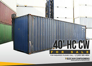 40ft Hc Cargo Worthy Shipping Container For Sale In Houston Tx