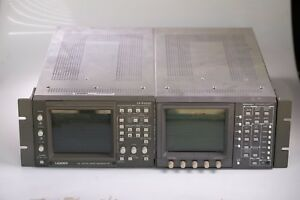 Lot Of Tektronix Wfm 601a Serial Component Monitor And Leader Lv 5152d Monitor