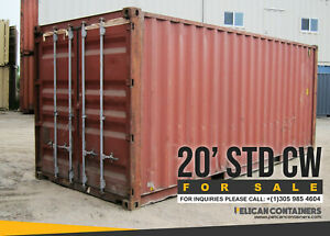 20 Std Cargo Worthy Shipping Container For Sale In Houston Tx