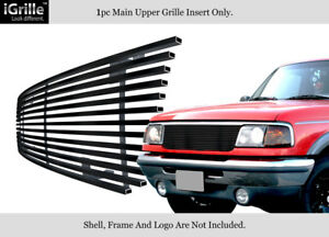 Fits 1993 1997 Ford Ranger Black Stainless Steel Billet Grille Grill Insert