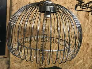Retro Vintage Mid Century Modern Chrome Wire Ceiling Light Fixture