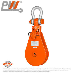 Prowinch Snatch Block Swivel Clevis Shackle Wire Rope Pulley 8 Ton
