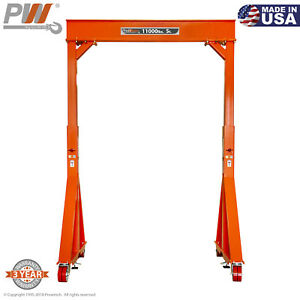 Prowinch Manual Gantry Crane 5 Ton 11 15 Ft Height 8 Ft Span Made In Usa