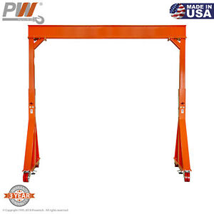 Prowinch Manual Gantry Crane 5 Ton 12 Ft Height 12 Ft Span Made In Usa