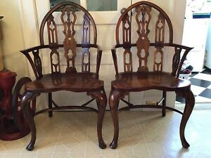 Theodore Alexander Gothic Windsor Chairs 2