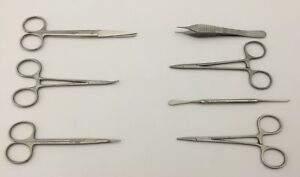 Minor Surgical Veterinary Instrument Set Of 7 Made Of German Stainless Steel