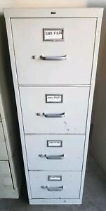 Metal Filing Cabinet 4 Drawers Local Pick Up Only