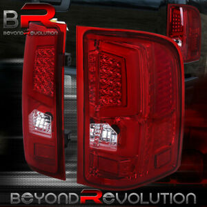 07 13 Chevy Silverado Truck 1500 2500 Led Brake Stop Tail Lights Lamps Unit Red