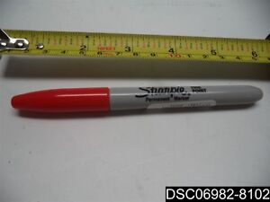 Qty 45 Sharpie Fine Pt Perm Marker Red Shp 30052 071641300521