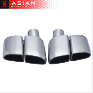 Exhaust Tips Muffler Tail Pipes For Porsche Panamera 970 2010 13 Pair