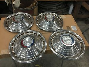 1963 Ford Galaxie 500 14 Hubcaps Set Of 4 1961 1962 1964