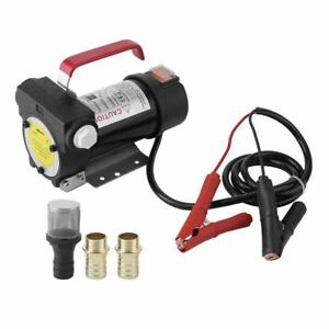 Portable 12v 11gpm 175w Electric Oil Diesel Fuel Transfer Extractor Pump Auto