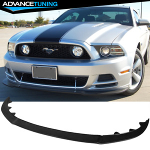 Fits 13 14 Ford Mustang Gt Style Front Bumper Lip Unpainted Black Poly urethane