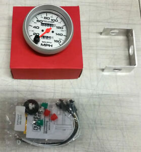 Sale Autometer Ultra Lite In Dash Mechanical Silver 3 3 8 160 Mph Speedometer