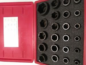 Snap On 1 2 Dr 6pt Impact Socket Set W Case Metric 23pc