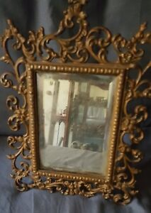 Antique Ornate Victorian Beveled Table Mirror Styling Of Bradley And Hubbard