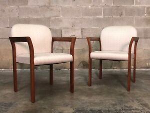 Mid Century Style Office Reception Dining Chairs A Pair