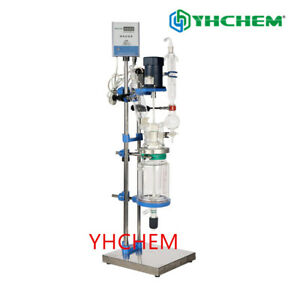 1l 2l3l5l Jacketed Glass Chemical Reactor glass Reactor