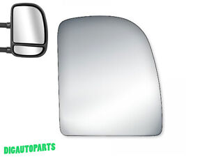 Upper Towing Mirror Glass For Ford Econoline Van econoline Wagon Right Side Rh