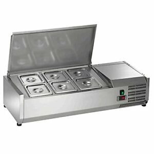 New Arctic Air Acp40 40 Refrigerated Countertop Condiment Prep Station 6 Pan