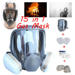 Uv Protection Full Face Gas Mask Facepiece Respirator 15 In 1 Suit F 3m 6800