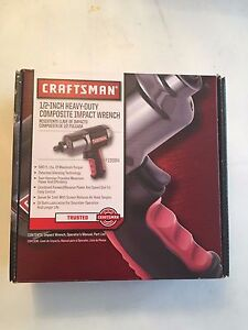 New In Box Craftsman 1 2 Heavy Duty Composite Impact Wrench 580 Ft Lbs Torque