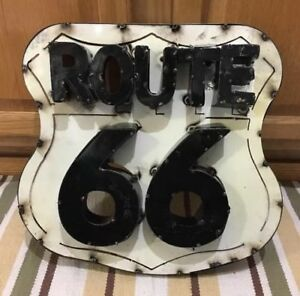 Route 66 Road Highway Vintage Style Gas Oil Car Truck Wall Decor Garage Pub Bar
