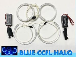 4x Ccfl Blue Light Ring Angel Eye Halo Drl Kit For 00 03 E46 Coupe No Projector