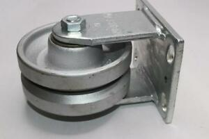 Qty 2 Albion 6 V groove Ridgid Casters 2 5 Wheel Width Top Plate
