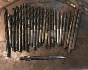 Morse Taper 1 Reamer Drill Lot Metal Lathe Machinist Craftsman Atlas Jet Griz