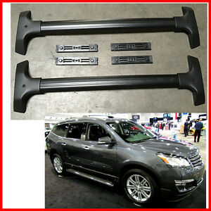 For 09 17 Chevy Traverse Oe Style Aluminum Roof Rack Cross Bar Luggage Carrier