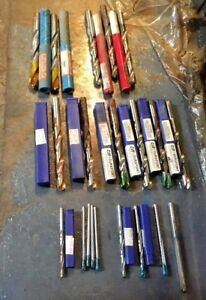 20pc Carbide Tipped Drill Bit Lot Machinist Tool 3 16 1 4 3 8 1 2 St