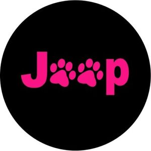 Jeep Pink Paw Print Spare Tire Cover