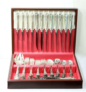 Gorham Chantilly Sterling Silver 74 Piece Set Service For 12