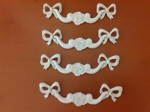 020 Vtg French Provincial Swing Pulls In White Tone Rare Only 1 Left